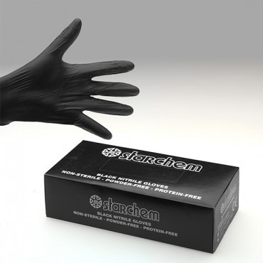Black Nitrile Gloves x 100